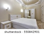 bedroom with a beautiful... | Shutterstock . vector #550842901