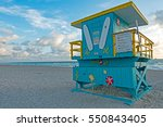 miami beach blue yellow... | Shutterstock . vector #550843405