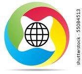 global sign | Shutterstock .eps vector #55084513
