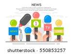 news flat banner poster. set of ... | Shutterstock .eps vector #550853257