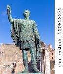 bronze statue of emperor nerva... | Shutterstock . vector #550853275