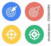 target vector icons set. white... | Shutterstock .eps vector #550864084