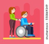 caring for invalid. disabled... | Shutterstock .eps vector #550869349