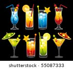 colorful cocktails collection....