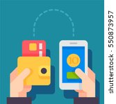people sending and receiving... | Shutterstock .eps vector #550873957