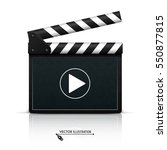 clapper board on white... | Shutterstock .eps vector #550877815