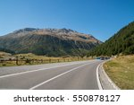 the pass of the forcola ... | Shutterstock . vector #550878127