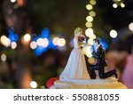 marriage proposal on bended... | Shutterstock . vector #550881055