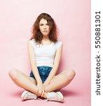 full body portrait of a female... | Shutterstock . vector #550881301