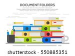 stack of papers. colorful... | Shutterstock .eps vector #550885351