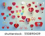 hearts set for love and... | Shutterstock .eps vector #550890439