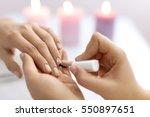 Nail Care And Manicure. Closeu...