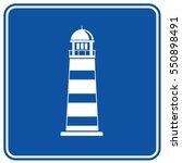 light house icon design clean... | Shutterstock .eps vector #550898491