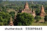 bagan pagoda myanmar under... | Shutterstock . vector #550898665