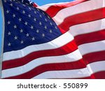 american flag in the wind | Shutterstock . vector #550899
