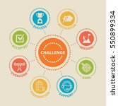 challenge. concept with icons... | Shutterstock .eps vector #550899334