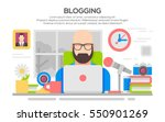vector illustration of a man... | Shutterstock .eps vector #550901269