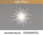 glow light effect. star burst... | Shutterstock .eps vector #550904551