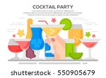cocktail party invitation... | Shutterstock .eps vector #550905679