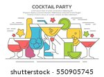cocktail party invitation... | Shutterstock .eps vector #550905745
