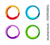 color circles set | Shutterstock .eps vector #550905841