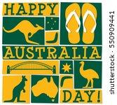 funky australia day card in... | Shutterstock .eps vector #550909441