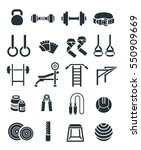 weightlifting flat vector icons ... | Shutterstock .eps vector #550909669