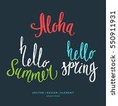 modern hand drawn lettering... | Shutterstock .eps vector #550911931