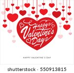 happy valentines day greeting... | Shutterstock .eps vector #550913815