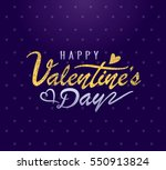 happy valentines day greeting... | Shutterstock .eps vector #550913824