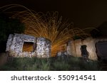 Light Painting In Abandon Hous...