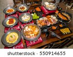 korean bbq  | Shutterstock . vector #550914655