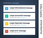 large notification messages | Shutterstock .eps vector #550917001