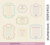 vector set of vintage frames | Shutterstock .eps vector #550919515