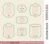 vector set of vintage christmas ... | Shutterstock .eps vector #550921201