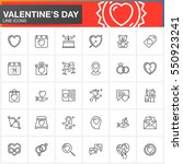 valentine's day line icons set  ... | Shutterstock .eps vector #550923241