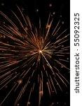 reddish orange burst of... | Shutterstock . vector #55092325