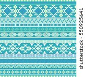 ethnic seamless pattern with... | Shutterstock .eps vector #550925641