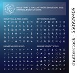 big icon set clean vector | Shutterstock .eps vector #550929409