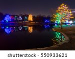 view of a lake with many... | Shutterstock . vector #550933621