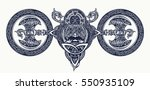 viking tattoo  celtic style.... | Shutterstock .eps vector #550935109