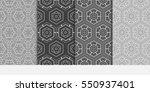 set of hexagonal pattern. grey...