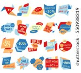set of sale discount labels ... | Shutterstock .eps vector #550938319