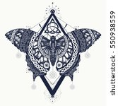 butterfly tattoo art  celtic... | Shutterstock .eps vector #550938559