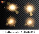 set. shining star  the sun... | Shutterstock .eps vector #550939039