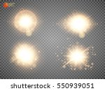 set. shining star  the sun... | Shutterstock .eps vector #550939051
