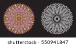set of white and color mandalas | Shutterstock .eps vector #550941847