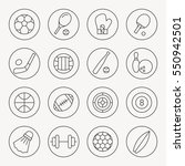 sport thin line icon set | Shutterstock .eps vector #550942501