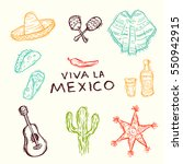 set of hand drawn vector design ... | Shutterstock .eps vector #550942915