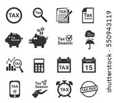 tax icon silhouette vector | Shutterstock .eps vector #550943119